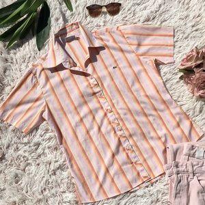🍊VTG LACOSTE button down shirt